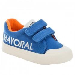 802fba2b4e9 Sneaker με λογότυπο και βέλκρο Μπλε ουρανί Mayoral 41824